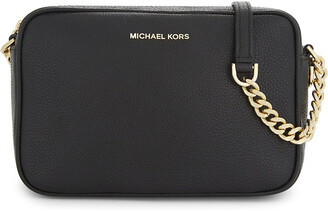 MICHAEL Michael Kors Michael Kors Ladies Black Grained Modern Ginny Leather Cross-Body Bag