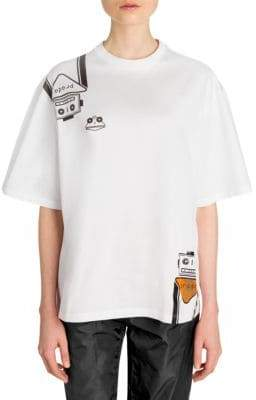 Prada Robot Stickers T-Shirt