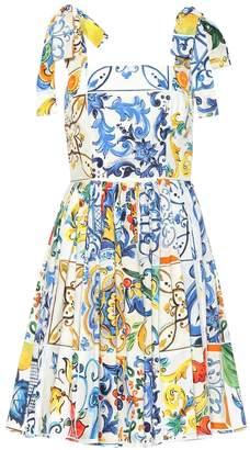 548a7c609f Dolce   Gabbana Majolica sleeveless cotton dress
