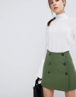 Asos (エイソス) - ASOS DESIGN ASOS Double Breasted Mini Skirt