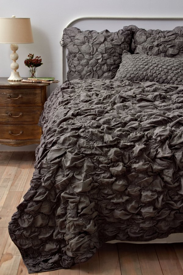 Anthropologie Catalina Quilt, Charcoal