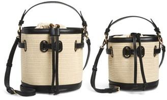 Mali & Lili Gina Set of 2 Twinning Straw Bucket Bags