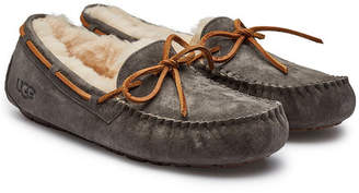 UGG Dakota Suede Slippers with Shearling Insole