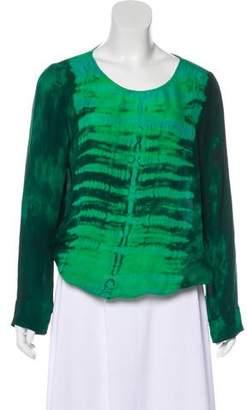 Raquel Allegra Printed Long Sleeve Top