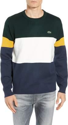Lacoste Regular Fit Colorblock Cotton Sweater