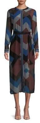 Marella Long-Sleeve Geometric Dress