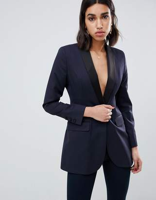 Asos Design DESIGN Premium tux blazer with exaggerated hip & shoulders