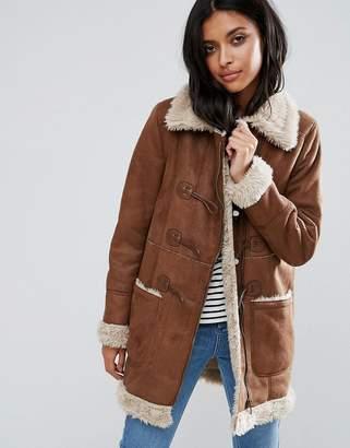 Pepe Jeans Cosima Faux Shearling Coat