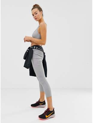 Missguided gym ribbed crop top in grey