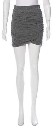 Pam & Gela Ruched Mini Skirt