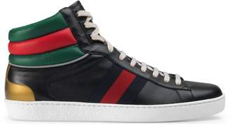 Gucci Men's Ace high-top sneaker