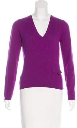 Burberry V-Neck Cashmere Sweater