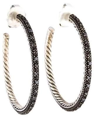 David Yurman Diamond Midnight Mélange Hoop Earrings silver Diamond Midnight Mélange Hoop Earrings