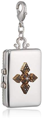 Pilgrim Jewelry Mega Charm Silver-Plated Brass/Crystal Gold-Plated 6.0 CM Grey 411346105