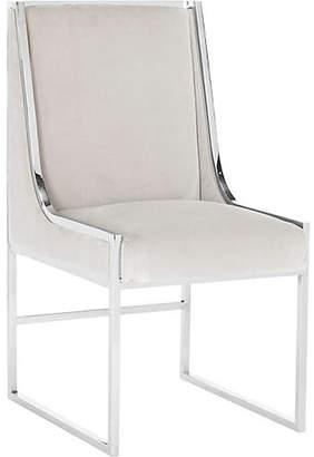 One Kings Lane Arteaga Side Chair - Almond Velvet