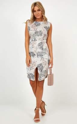 Showpo Strategic Fit Dress in mint floral - 6 (XS) Dresses