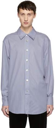 Wooyoungmi Blue Striped Logo Shirt