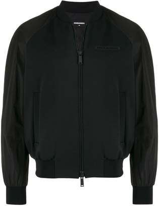DSQUARED2 chest logo bomber jacket