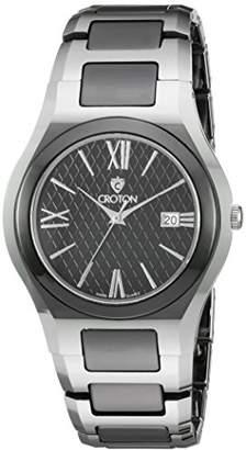 Croton Men's CN307530TNBK Analog Display Quartz Silver Watch
