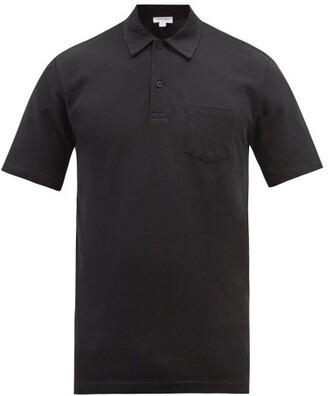 Sunspel - Riviera Cotton Piqué Polo Shirt - Mens - Black