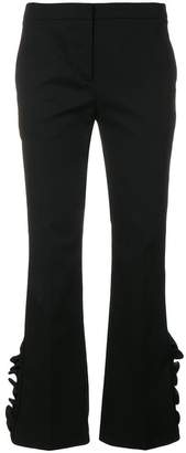 No.21 cropped ruffle trousers