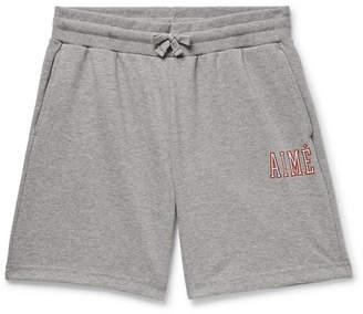 Leon Aimé Dore Logo-Print Loopback Cotton-Jersey Drawstring Shorts