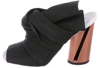 Proenza Schouler Leather Slide Sandals