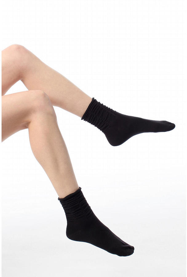 Rouched Ankle Sock