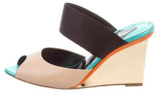 Nicholas Kirkwood Leather Wedge Sandals