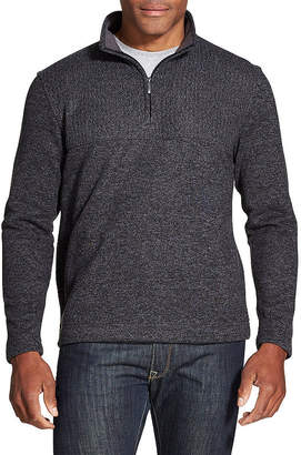 Van Heusen Mens High Neck Long Sleeve Quarter-Zip Pullover