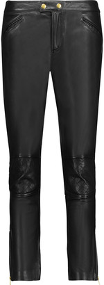 Muubaa Parnell leather slim-leg pants $324.50 thestylecure.com