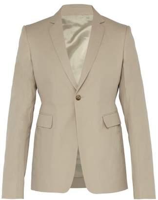 Rick Owens Slim Fit Single Breasted Cotton Twill Blazer - Mens - Beige