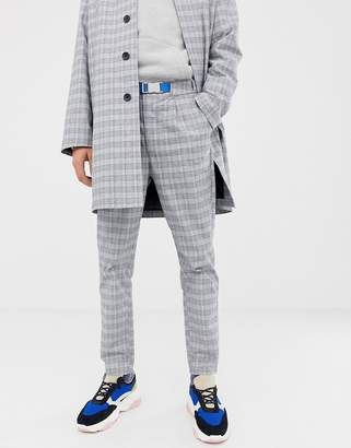 Asos co-ord tapered trousers in check with front pleats