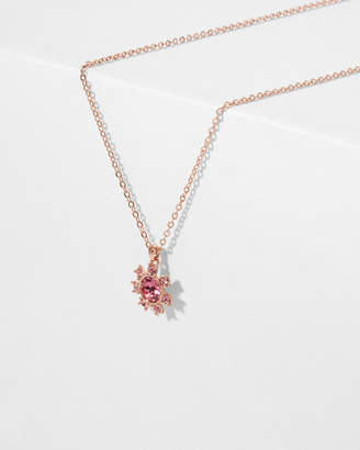 Ted Baker CESSALA Clockwork daisy crystal detail pendant