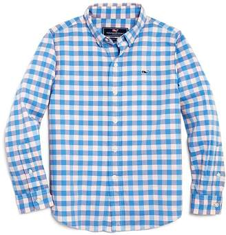 Vineyard Vines Boys' Beach Tartan Button-Down Shirt - Little Kid, Big Kid