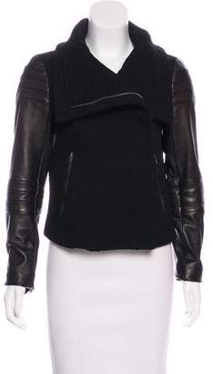 Diane von Furstenberg Lulu Leather-Accented Jacket