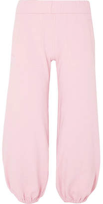 Norma Kamali Puff Stretch-cotton Jersey Track Pants