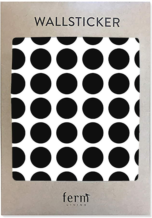 ferm living - Mini Dots Wallsticker (54 Stck.), Schwarz