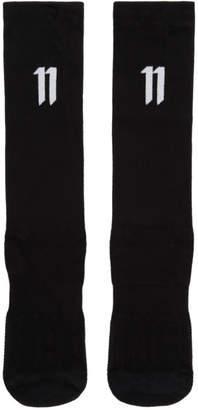 11 By Boris Bidjan Saberi Three-Pack Black Logo Socks