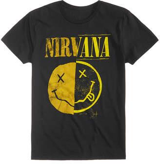 New World Men's Nirvana Split Smiley Logo-Print T-Shirt