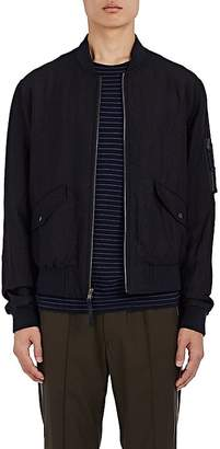 Vince MEN'S LINEN-WOOL BOMBER JACKET