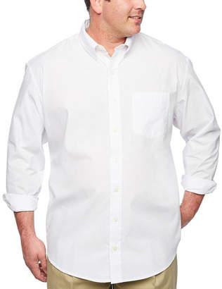Izod Essential Woven Long Sleeve Shirt-Big & Tall
