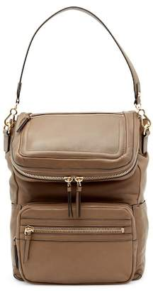 Vince Camuto Patch Leather Backpack