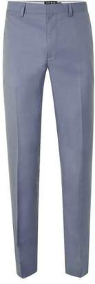 Light Blue Skinny Fit Suit Pants $120 thestylecure.com