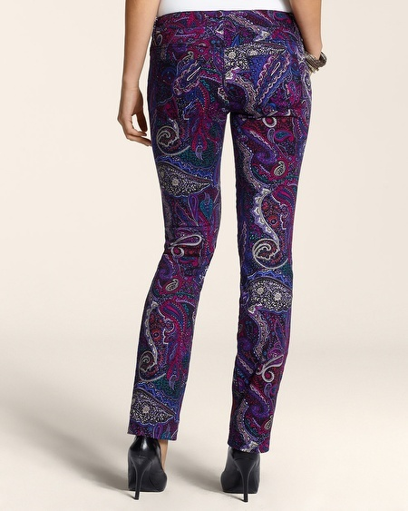 Chico's Platinum Denim Paisley Slim-Leg Jean