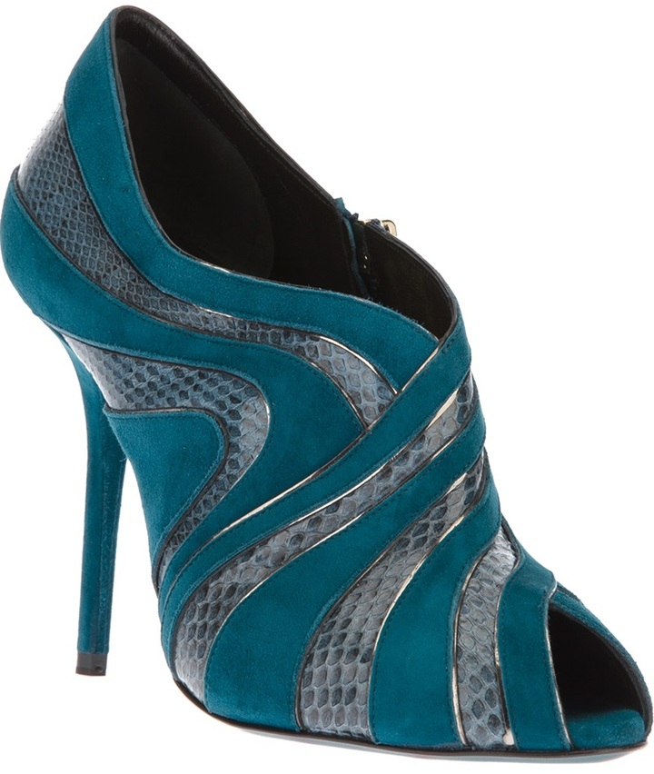 Dolce & Gabbana peep toe ankle boot