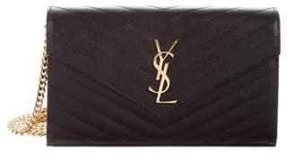 Saint Laurent 2019 Large Monogram Chain Wallet