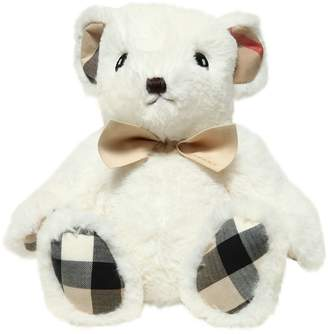 Burberry Plush Bear With Check Details