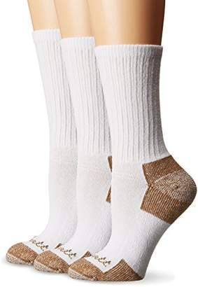 Carhartt MD (Women's Shoe Size 5.5-11.5) 3 Pack Cotton Crew Work Socks