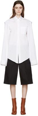 Vetements White Oversized 'V' Shirt $735 thestylecure.com
